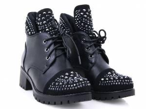 Členkové čižmičky čierne