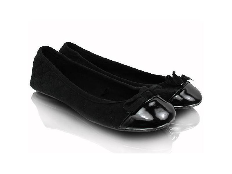 Prešívané balerínky čierne