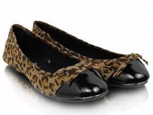 Prešívané balerínky leopard
