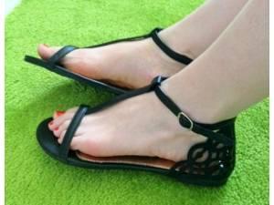 Sandálky RETRO Black