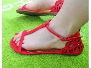 Sandálky RETRO Red
