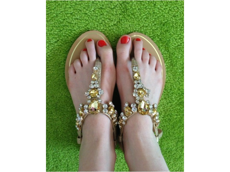 Sandálky GOLD
