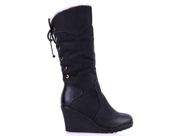 Čierne čižmy zateplené