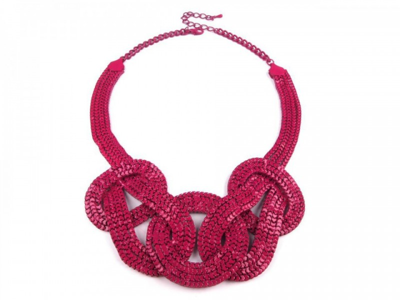 Kovový náhrdelník FUCHSIA