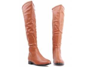 Hnedé čižmy nad koleno