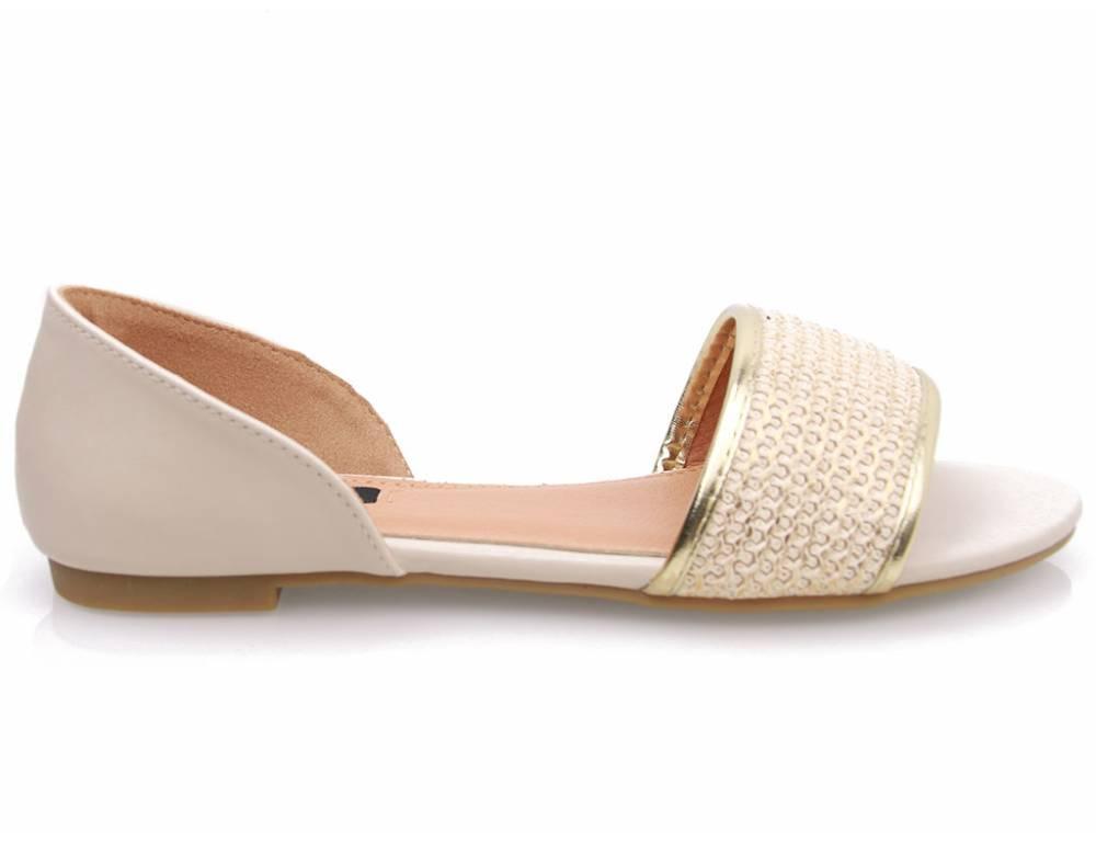 640cb5b78cc3 Béžové nízke sandálky · Béžové nízke sandálky · Béžové nízke sandálky