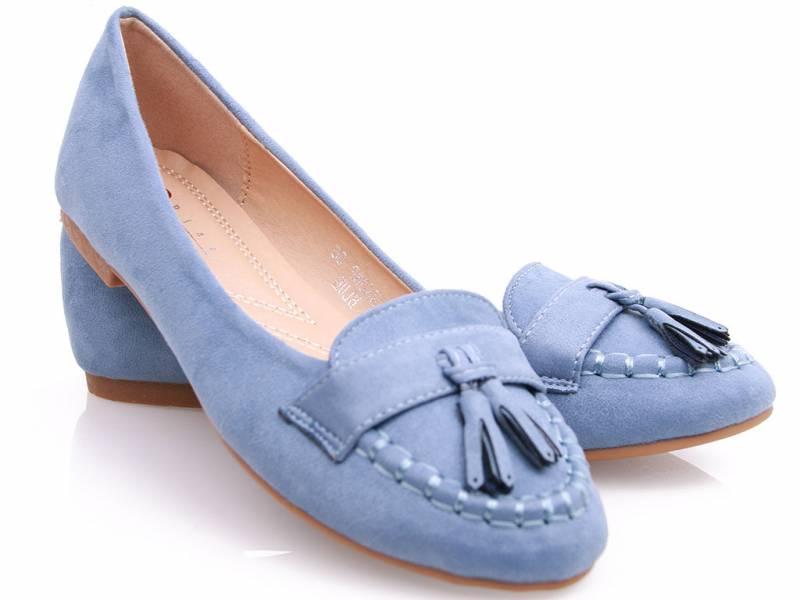 Semišové mokasíny modré