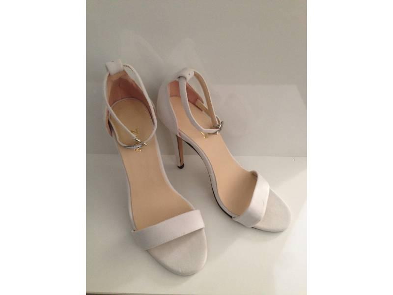 Letné sandálky biele