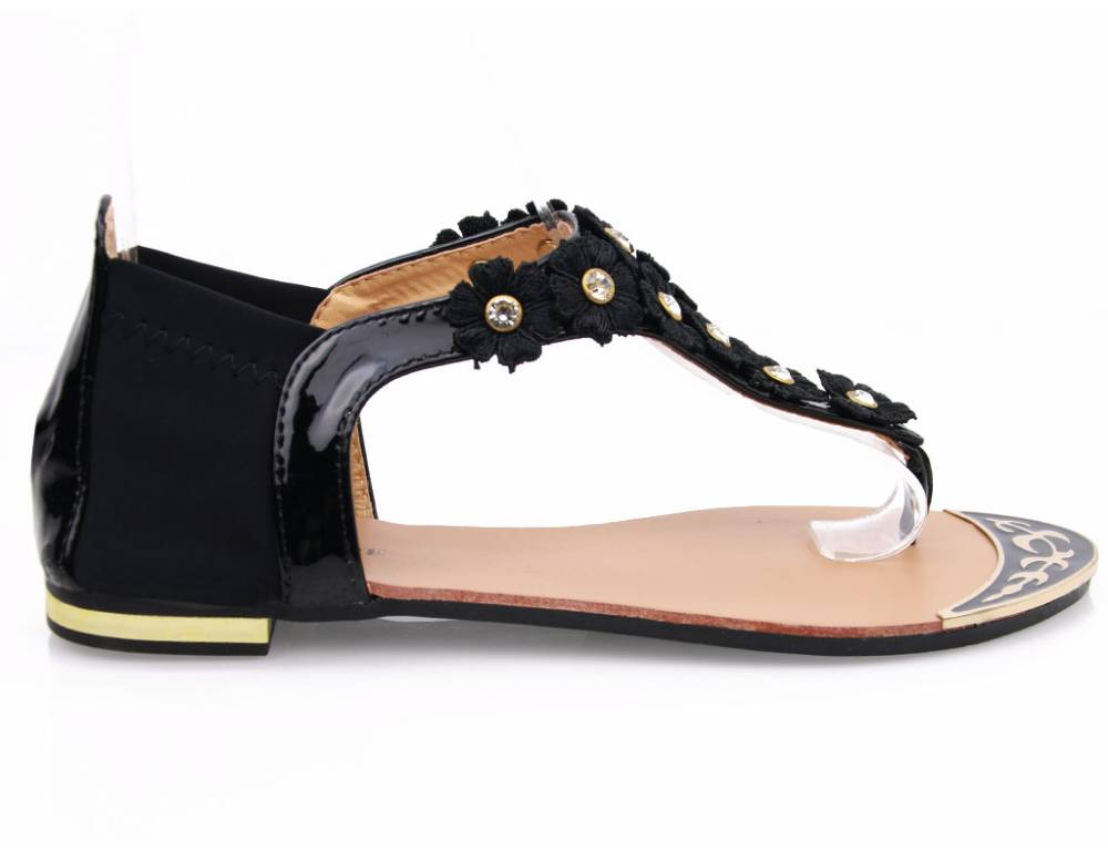 f23a06f6aa Čierne kvetinkové sandálky · Čierne kvetinkové sandálky · Čierne kvetinkové  sandálky