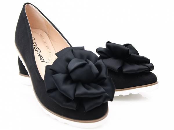 Čierne semišové baleriny