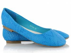 Modré balerínky SNAKE