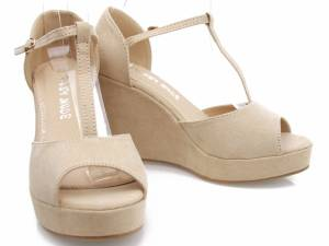 Béžové sandálky na platforme