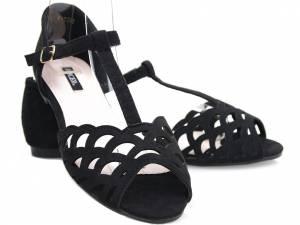 Nízke čierne sandálky