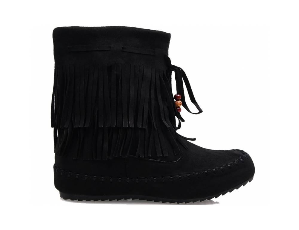 d29dd50a3c9a Čierne čižmičky so strapcami · Čierne čižmičky so strapcami ...
