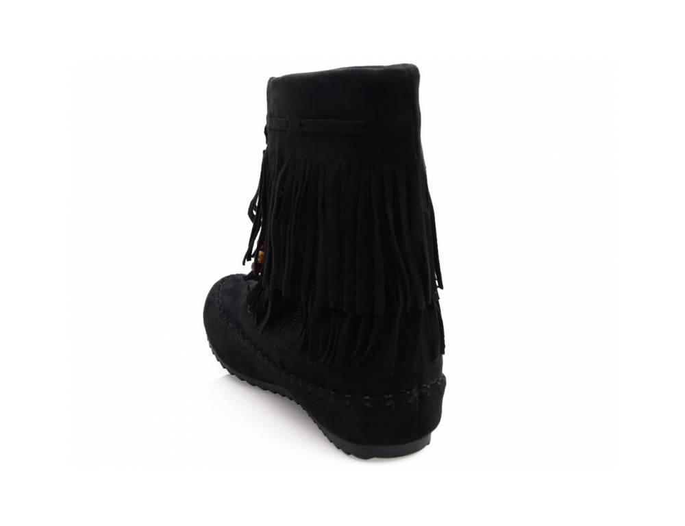 611951914191 ... Čierne čižmičky so strapcami