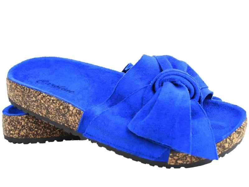 Modré korkové šľapky