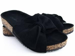 Čierne korkové šľapky