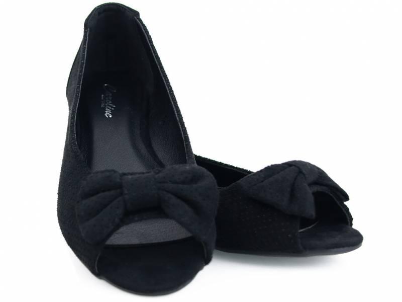 Čierne balerínky s mašličkou
