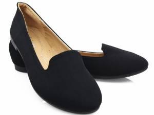 Elegantné čierne mokasíny