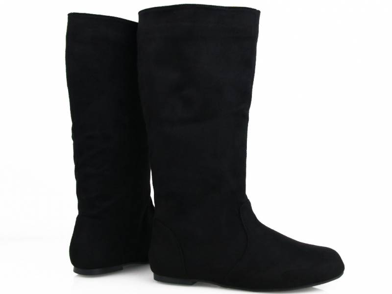 Čierne pohodlné čižmy