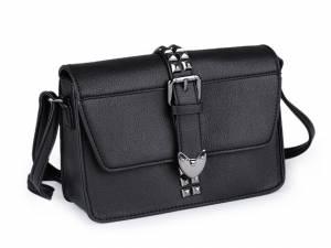 Vybíjaná kabelka čierna