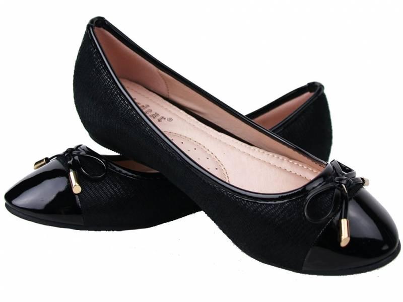 Čierne balerínky LILI