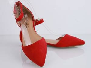 Červené balerínky LIA