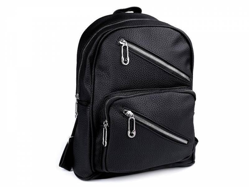 Jednofarebný ruksak s vreckami