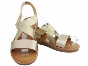Zlaté pohodlné sandále