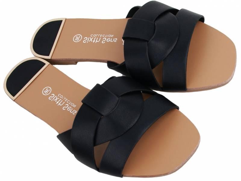 Čierne elegantné šľapky