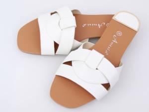 Biele elegantné šľapky