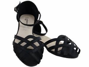 Čierne nízke sandálky