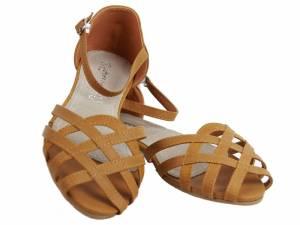 Hnedé nízke sandálky