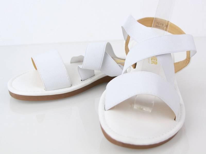 Biele nízke sandálky
