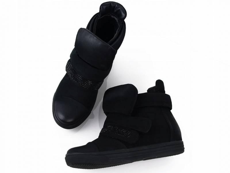 Čierne zateplené tenisky