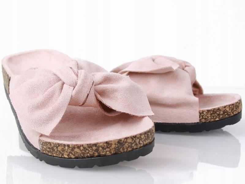 Semišové šľapky ružové