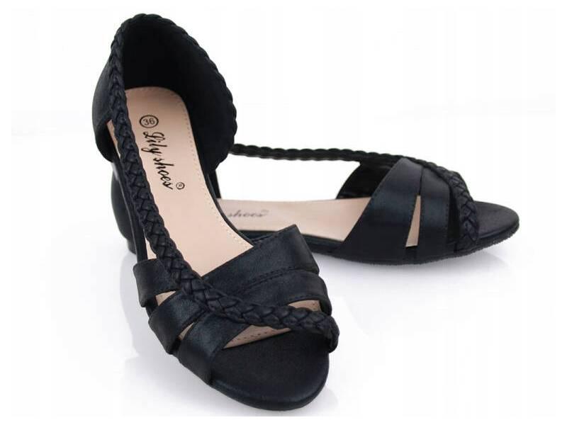 Čierne dámske baleriny