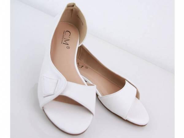 Biele balerínky LILI