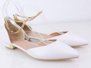Biele nadrozmerné balerínky 41-44