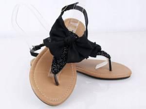 Čierne sandálky JAPONKY