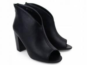 Čierne členkové sandálky