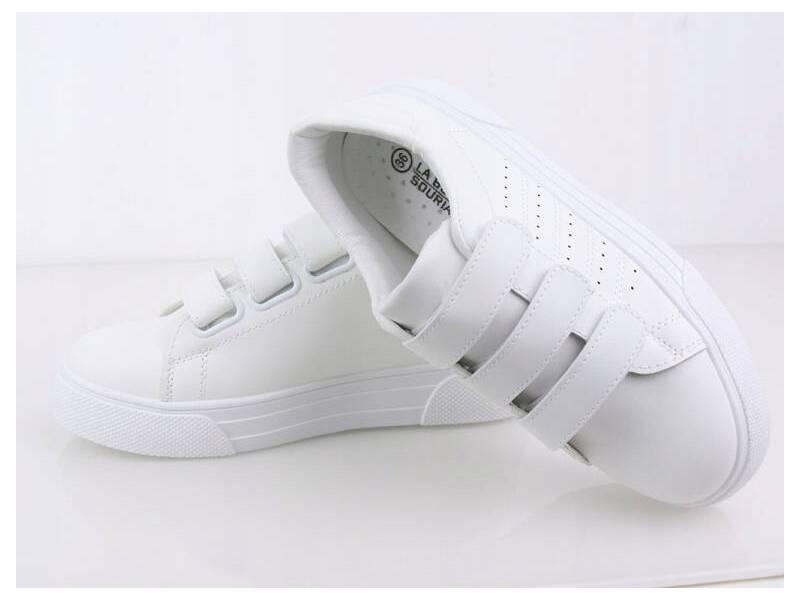 Biele tenisky na suchý zips