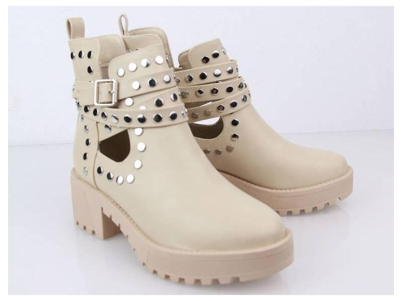 Béžové vybíjané topánky