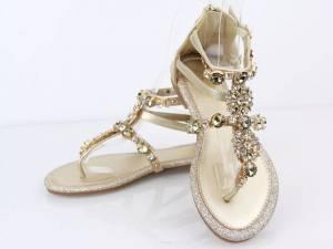Spoločenské sandálky GOLD