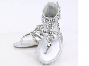 Spoločenské sandálky SILVER