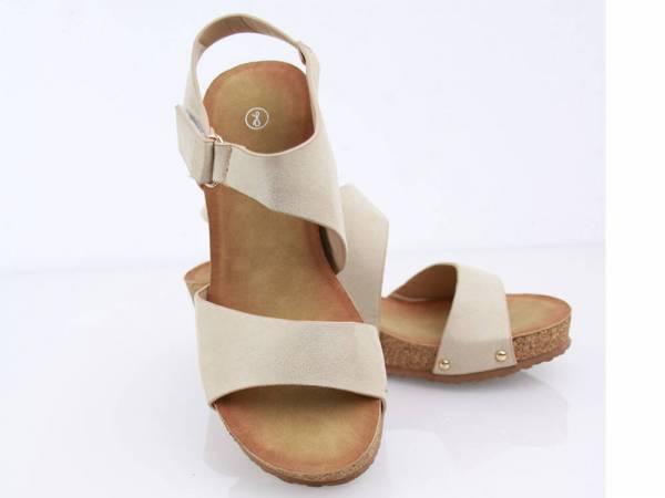 Korkové sandálky béžové