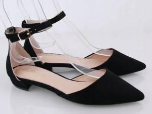 Čierne špicaté balerínky