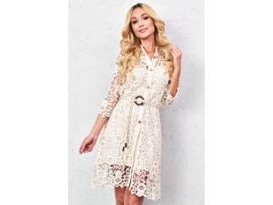 Biele krajkové šaty