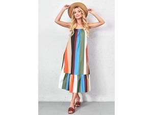 Farebné maxi šaty