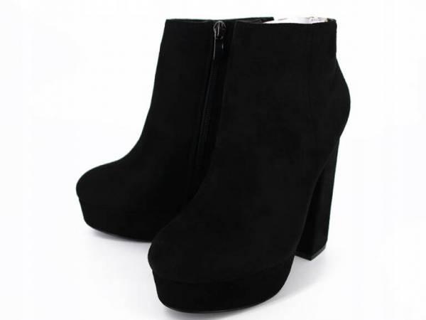 Zateplené čierne čižmičky